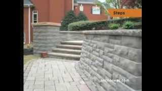 Building Steps From Retaining Wall Block - Grades