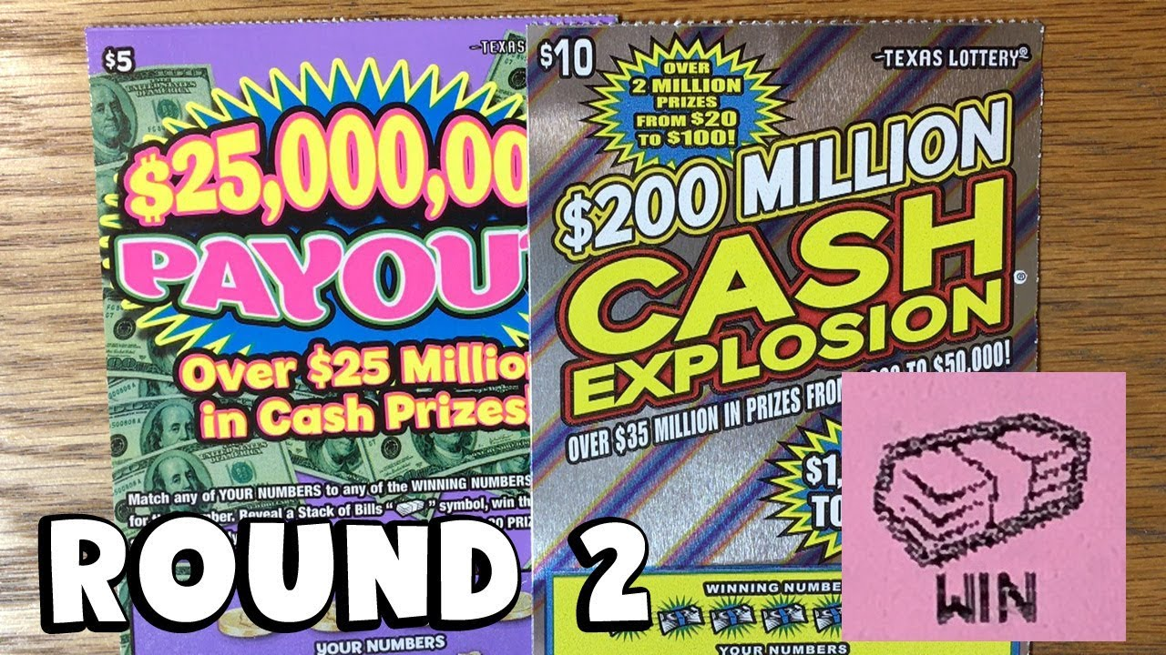 NEW TICKETS ROUND 2! $25,000,000 Payout + $200 Million Cash Explosion! ✦  TEXAS LOTTERY Scratch Offs