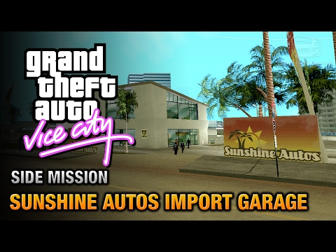 GTA Vice City - Sunshine Autos Import Garage [Grand Theft Auto Trophy]