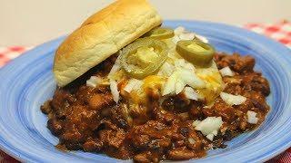 Diner Style Chili Size  ~ Chili Burger ~ Noreen's Kitchen