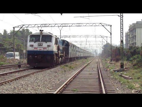 11014 Coimbatore - Mumbai LTT (Kurla) Express With SHF Mode Krishnarajapuram WDP4 #20046