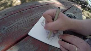 Urban Sketching: Caboose