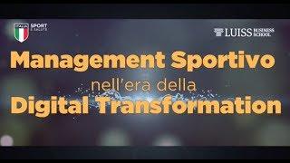 Scuola dello Sport - Corso in Management Sportivo nell'era della Digital Transformation