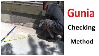 How to check Gunia problem in walls