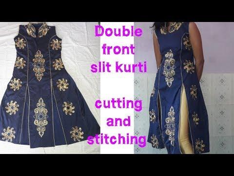 Princess front double slit kurti banaye   waste tukde ka use karke   PRINCESS CUT KURTI  