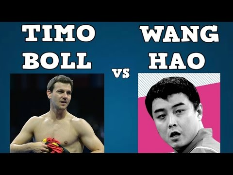 TIMO BOLL vs WANG HAO (2005 World cup/Final/Table tennis best/Timo Boll vs Wang Hao)