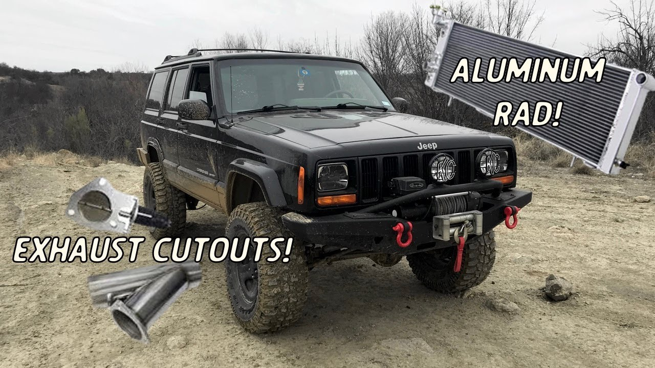 hight resolution of 1999 jeep cherokee xj radiator and exhaust cutout install