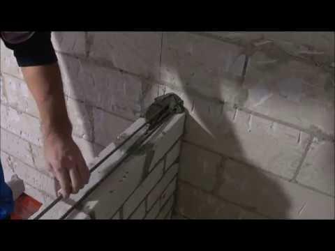 примыкание кирпичной перегородки к газосиликатным и бетонным стенам..