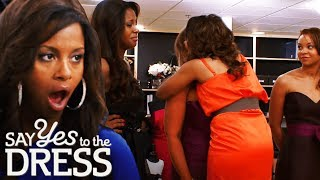 Miss America Tries to Console Insecure Bridesmaid | Say Yes To The Dress Bridesmaids