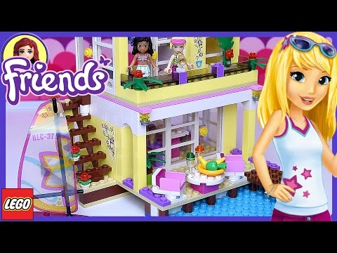 Lego Friends Stephanie's Beach House Building Review Fun Play - Kids Toys