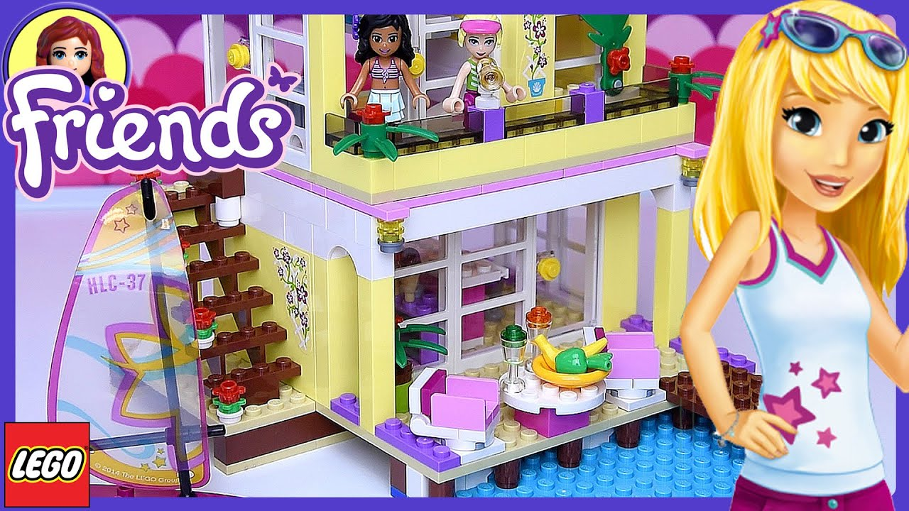 lego friends stephanie 39 s beach house building review fun play kids toys youtube. Black Bedroom Furniture Sets. Home Design Ideas