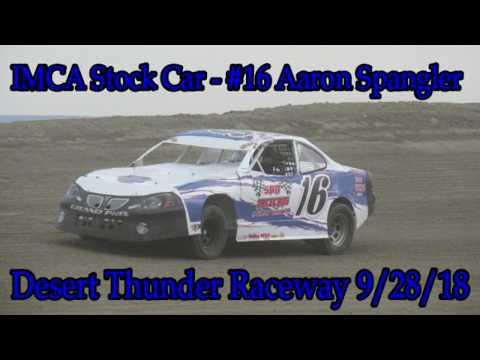 In Car - IMCA Stock Car - #16 Aaron Spangler - Desert Thunder Raceway 9/28/18