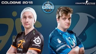CS:GO - Fnatic vs. Luminosity [Mirage] - ESL One Cologne 2015 - Quarterfinal Map 2