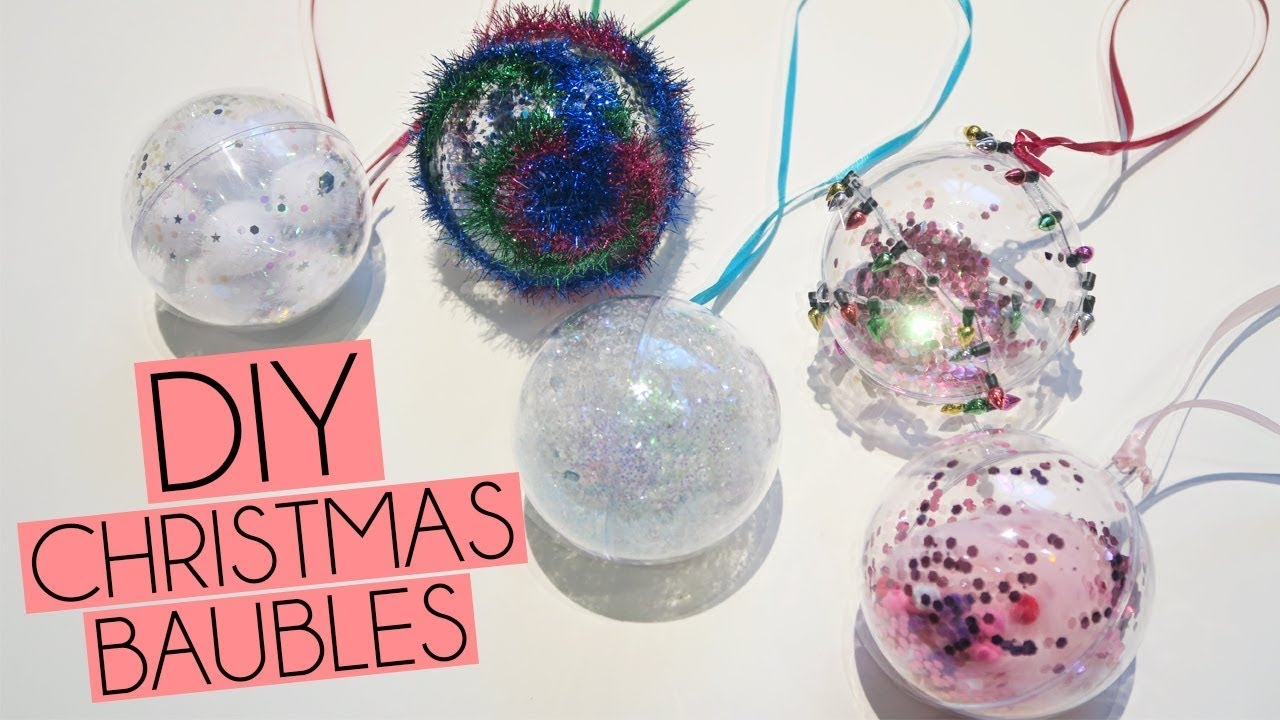 DIY 5 Fillable Christmas Glitter Bauble Ideas | Paige Joanna - YouTube