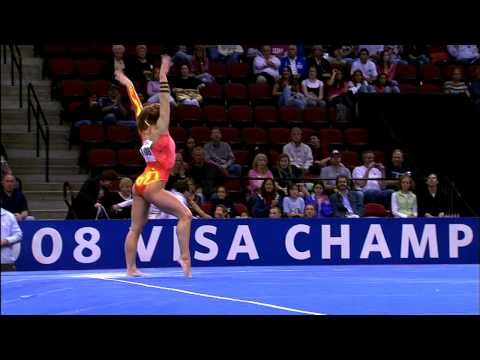 Shawn Johnson - Floor Exercise - 2008 Visa Championships - Day 1