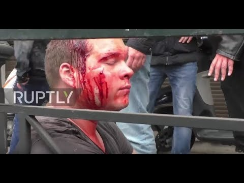 Greece: Protesters try to topple 'capitalist' Truman statue amid clashes