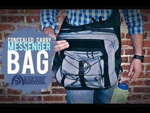 43c8da6cdb GRAYMAN CARRY- Concealed Carry Messenger Bag - YouTube