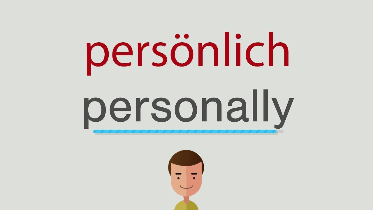 Persönlich Englisch
