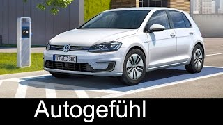 VW Volkswagen e-Golf Facelift 300 km range update Exterior/Interior review new neu - Autogefühl