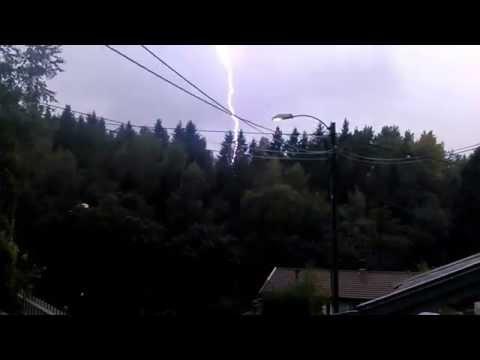 Tordenvær i Arendal, 27/07/2014