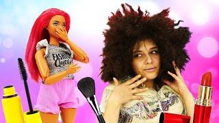 Игры Салон красоты для девочек Куклы Барби прически и макияж Барби мультик
