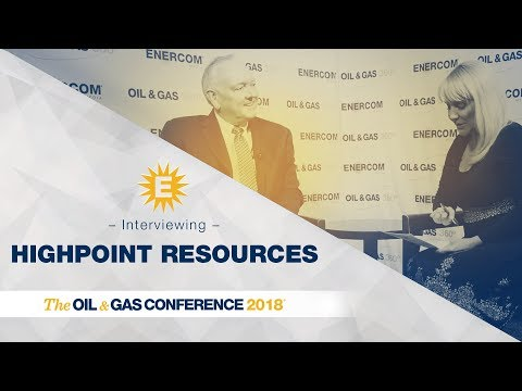 HighPoint Resources' Scot Woodall at EnerCom's Oil & Gas Conference ® 2018