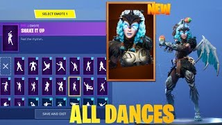 FORTNITE *NEW* VALKYRIE SKIN DANCE COLLECTION SHOWCASE (Update 5.41 Leaks)
