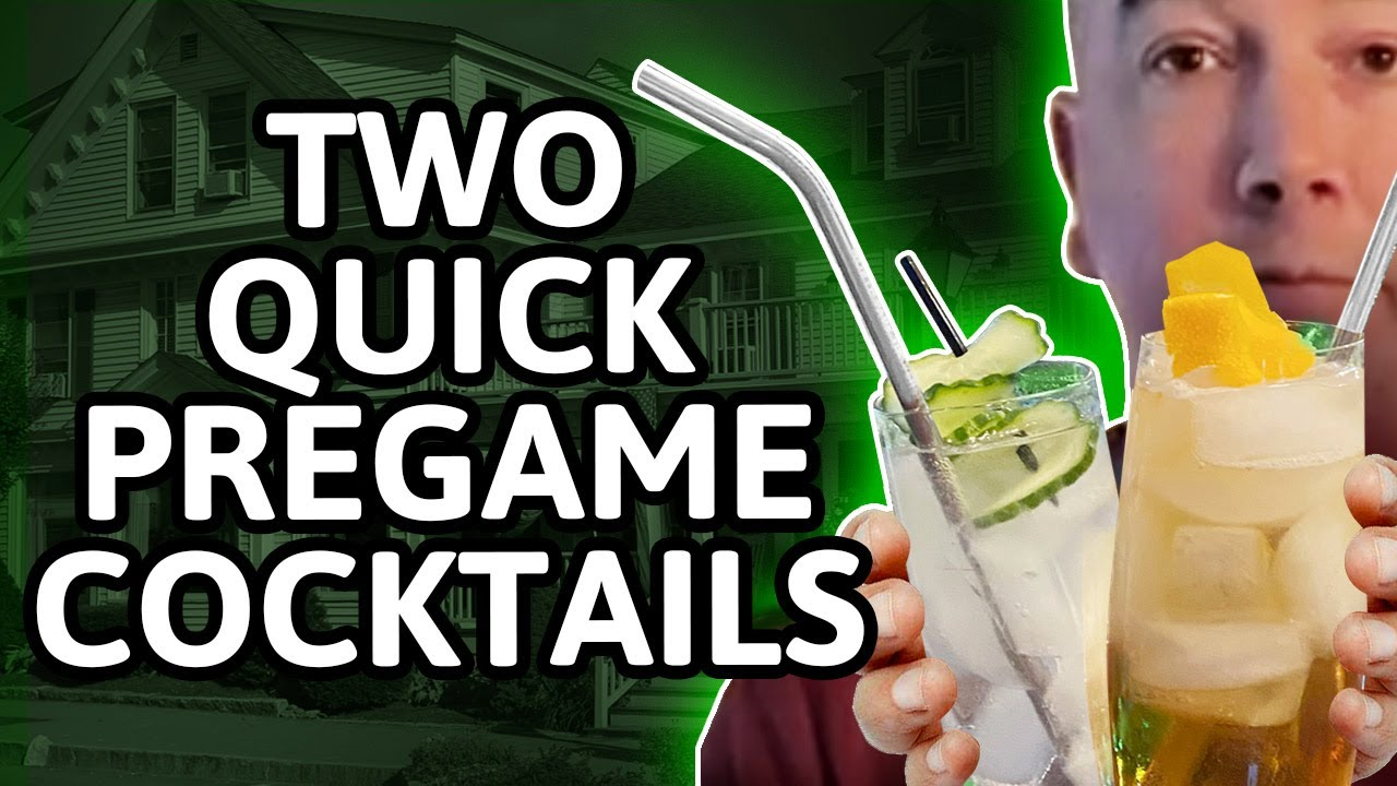 "Encourage-Educate-Entertain: Make Two Quick ""Pregame"" Cocktails"