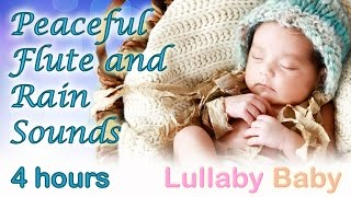 "✰ 4 HOURS ✰ PEACEFUL FLUTE ""Rain Dance"" ✰ Relaxing Rain Sounds ✰ Lullaby Baby Sleep Music"