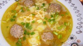 Быстрый суп с фрикадельками за 30 минут. Видео-рецепт.