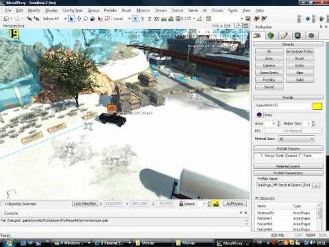 crysis wars sandbox editor 2 tutorial teil 1 youtube