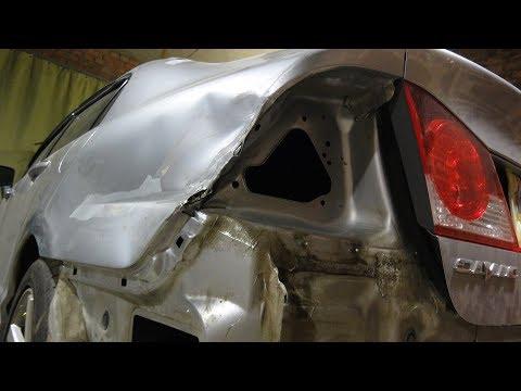 Хонда Цивик.Ремонт заднего крыла