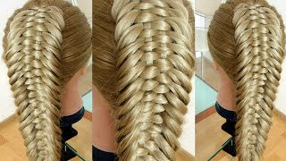 Коса Рыбий хвост Новый вариант  Причёска на каждый день Hair tutorial