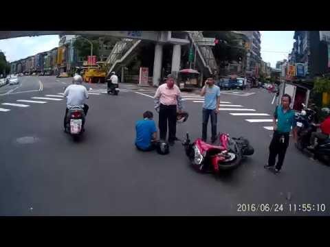 06 24 車禍! 恭喜三寶阿北成功擊落紅色機車騎士