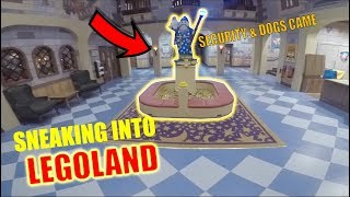 Hiding from Guard dogs & security... SNEAKING INTO LEGOLAND!