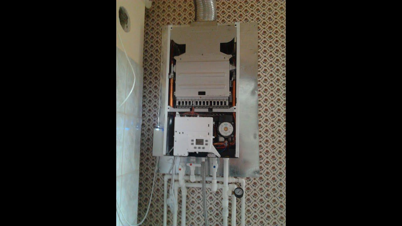 Тепловода-оз.ру BAXI MAIN Four газовый котёл. установка комнатного терморегулятора.