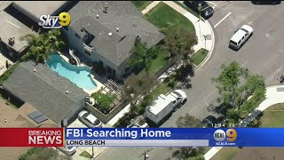 Investigators Search Long Beach Home In Connection With Aliso Viejo Explosion