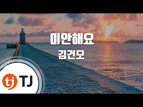 [TJ노래방] 미안해요 - 김건모 ( - Kim Kun Mo) / TJ Karaoke