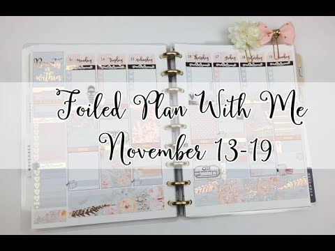 Foiled Plan With Me November 13-19