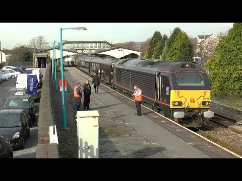 The Royal Train conveying HRH Prince Charles at Llanelli, Carmarthenshire 26/02/2016.