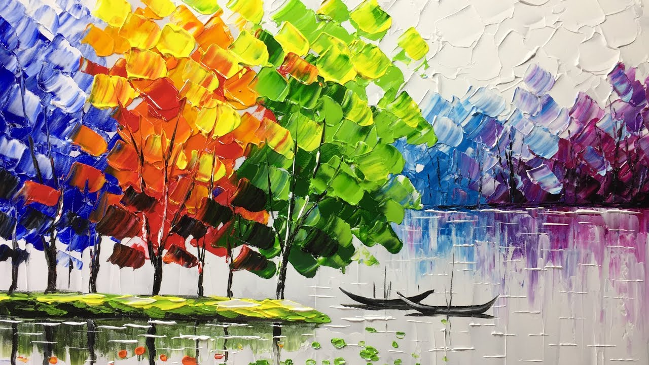 Creating a landscape with a palette knife youtube for Creating a landscape