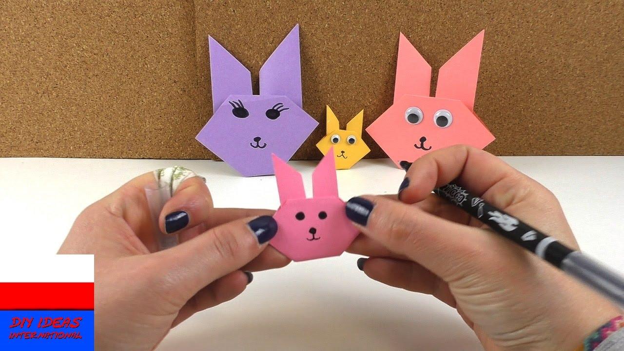 Diy International Zające Wielkanocne Z Origami Proste Zające Z