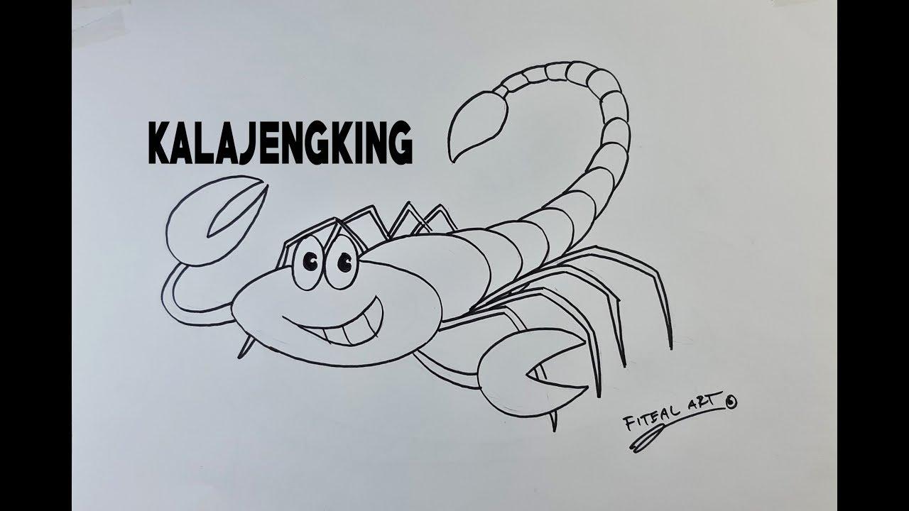 Cara Menggambar KALAJENGKING Yg Lucu How To Draw Animals