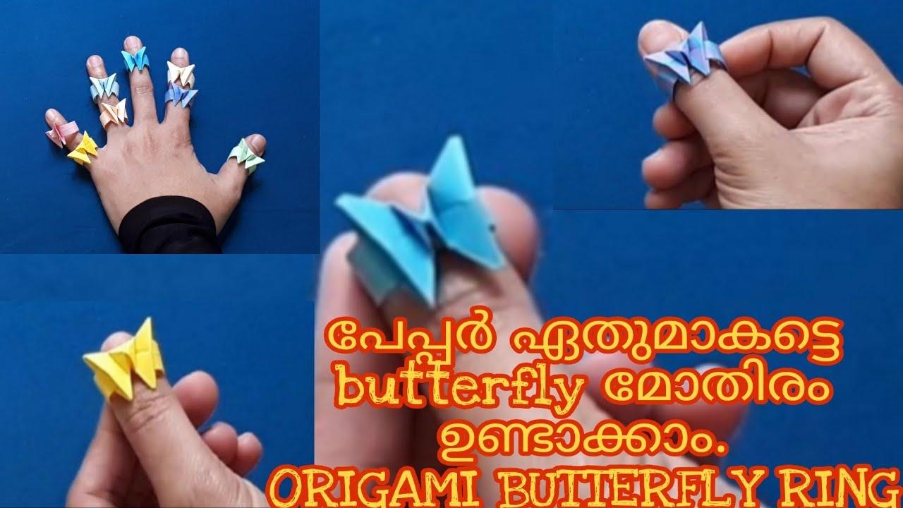 Origami ƸӜƷ Butterfly Ring ƸӜƷ | Origami butterfly, Origami ring ... | 720x1280