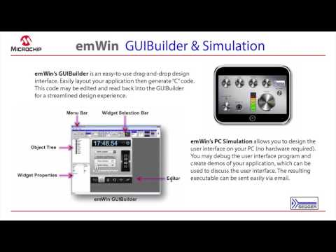 MPLAB® Harmony Third-Party Partners – embOS RTOS and emWin GUI Builder (Segger)
