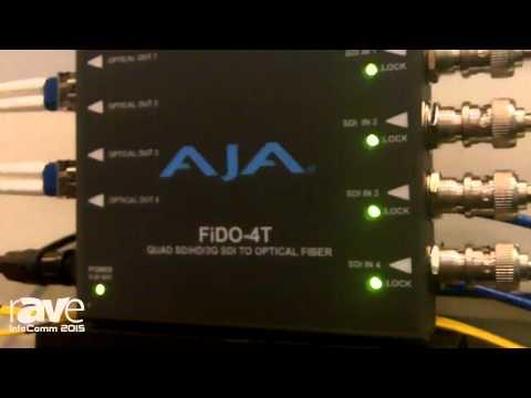 InfoComm 2015: AJA Features FiDO SDI/Optical Fiber Converter