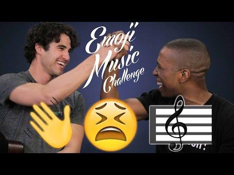 Darren Criss and Leslie Odom Jr. Emoji Music Challenge #5