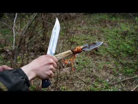Нож Пустынный Орел - тест на природе