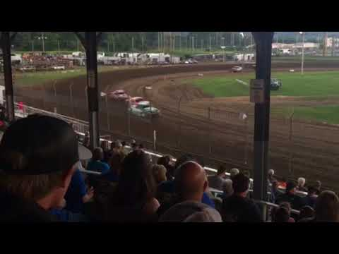Upper Iowa speedway USRA Stock car heat 2 7/28/18