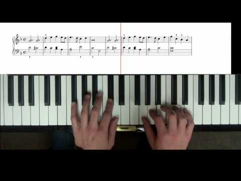 Yesterday - part 2 - easy piano tutorial with scrolling notes - part 2 - SLOW